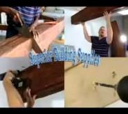 Faux wood installation